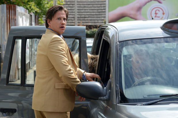 EastEnders, Aleks rushes Roxy into a taxi, Tue 30 Sep