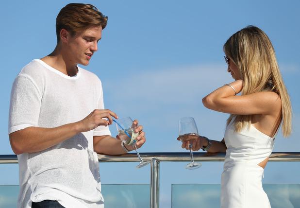 Lauren Pope confronts Lewis Bloor after rumours surface he has been unfaithful, Ibiza, Spain 23 September