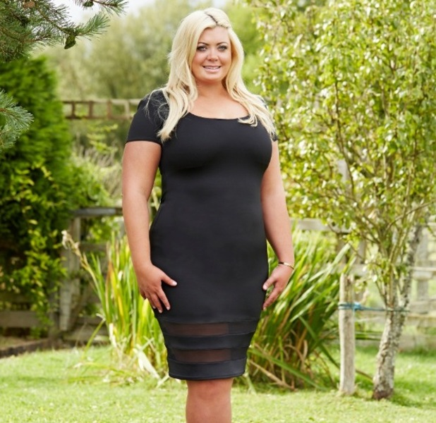 Gemma Collins wearing a dress from her own collection