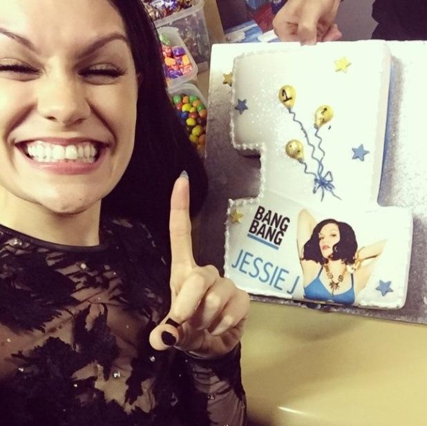 Jessie J celebrates 'Bang Bang' achieving number one - 28 September 2014.