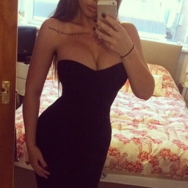 Holly Hagan tries on mini dresses at home - 3 October 2014