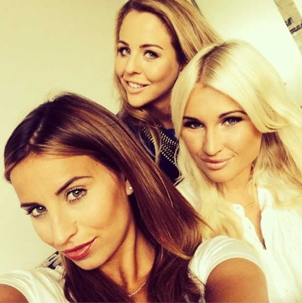 TOWIE's Billie Faiers, Ferne McCann and Lydia Bright pose for an Instagram picture before a day of press - 2 October 2014