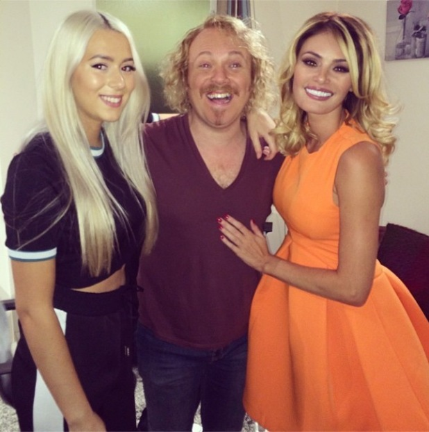 Chloe Sims and sister Demi with Keith Lemon at Celebrity Juice - 3 October 2014