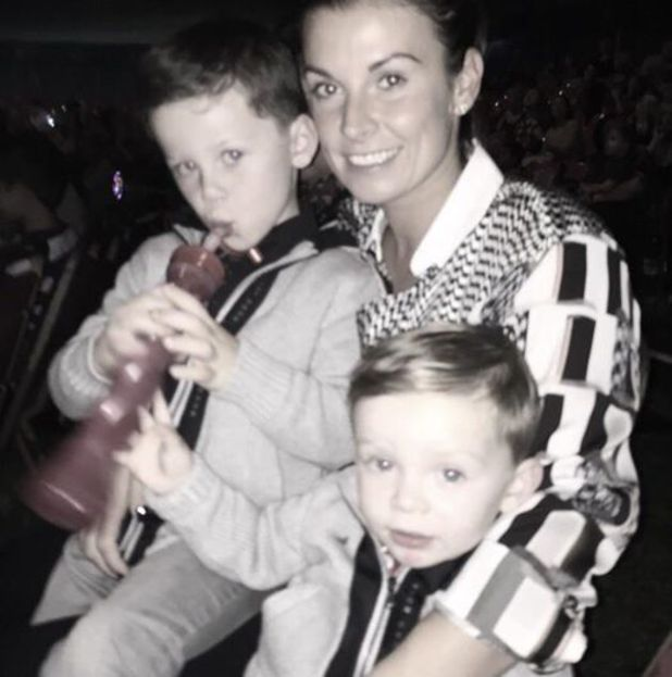 Coleen Rooney takes her sons Kai and Klay to the CIRCUS - 29 September 2014
