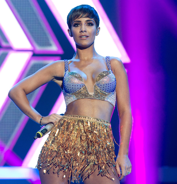 Frankie Bridge. English-Irish girl group The Saturdays perform their largest show to date on their first arena tour at the SSE Arena, Wembley, 19 September 2014