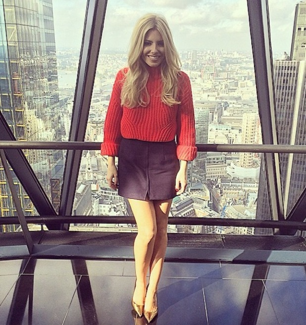 Mollie King at the Gherkin, London 3 October
