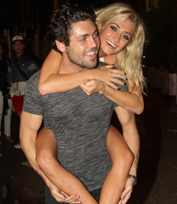 The Only Way Is Essex cast leave Es Paradis Nightclub, Ibiza, Spain - 26 Sep 2014 Tom Pearce and new girl George Harrison