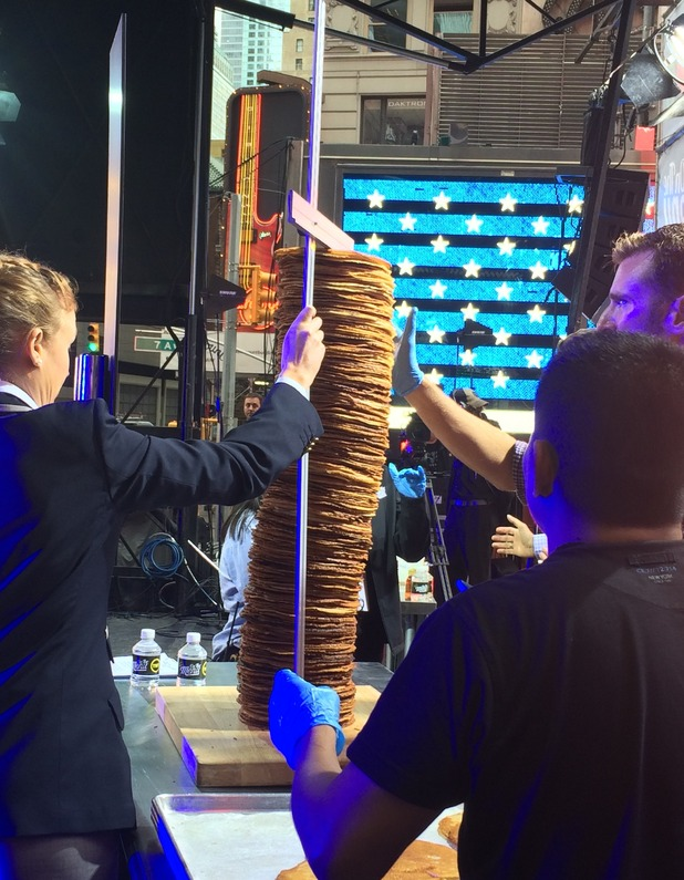 World's tallest stack of pancakes