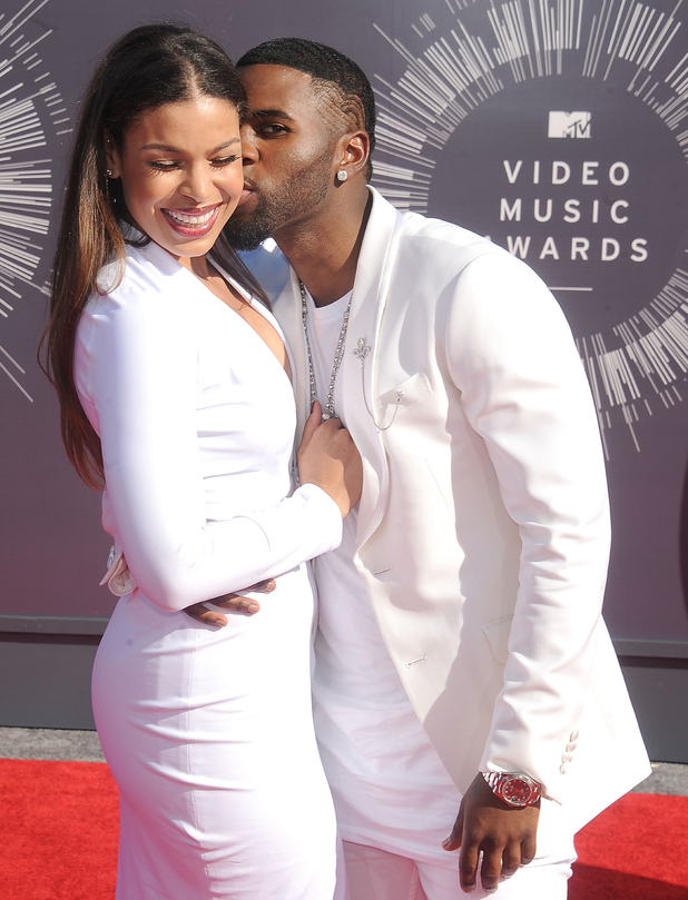Singers Jordin Sparks and Jason Derulo arrive at the 2014 MTV Video Music Awards at The Forum on August 24, 2014 in Inglewood, California.