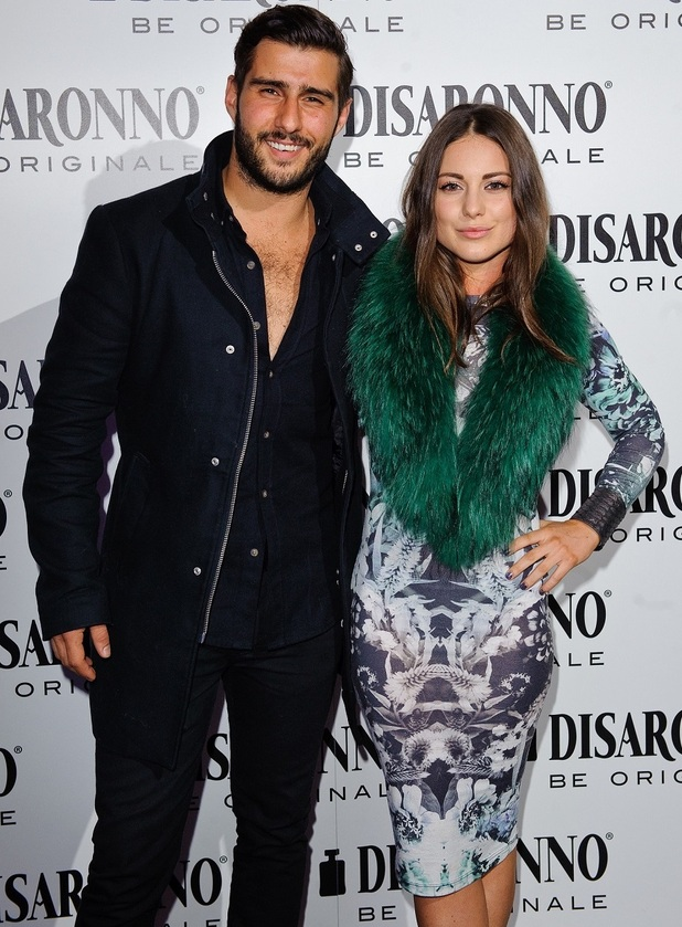 Louise Thompson and Alik Alfus attend launch of the Disaronno Wears Versace limited edition bottle, held at One Mayfair, London 30 September