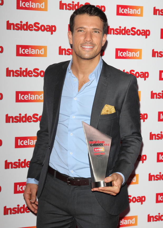 Danny Mac wins Sexiest Male at the Inside Soap Awards, DSTRKT, London 1 October