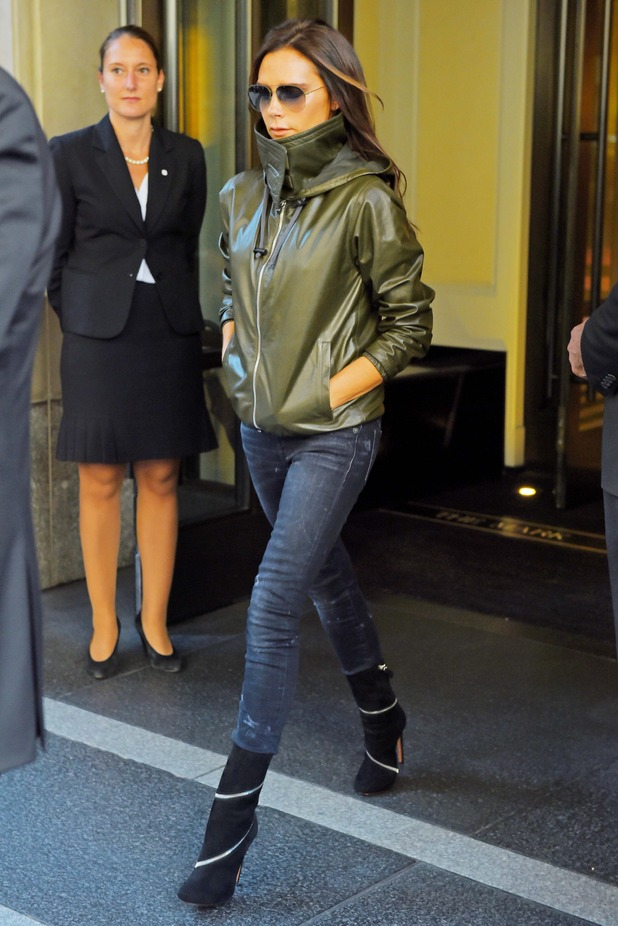 Victoria Beckham steps out in New York, America - 26 September 2014