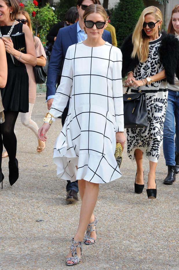 Olivia Palermo arrives at the Chloe spring/summer '15 show at Paris Fashion Week - France - 28 September 2014