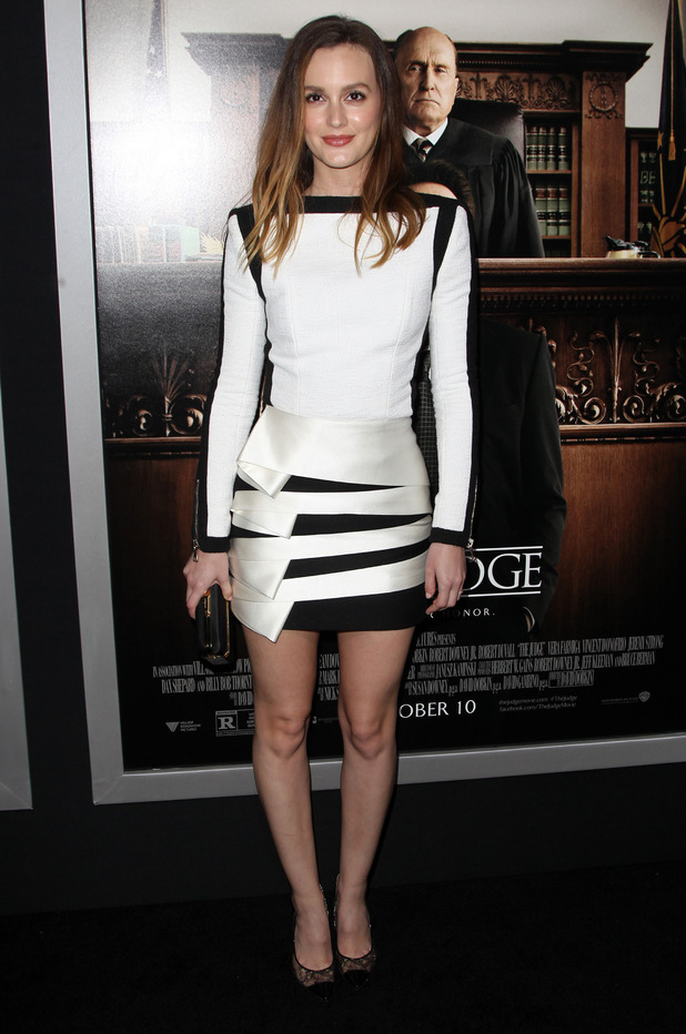 Leighton Meester attends the premiere for The Judge in Los Angeles, America - 1 October 2014