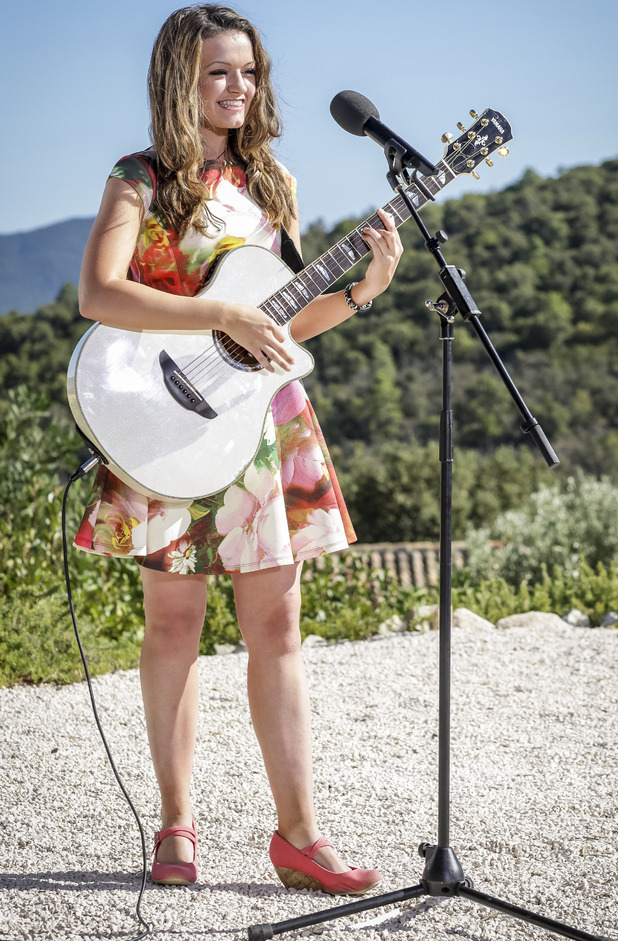 Emily Middlemas at judge's house, X Factor 2014