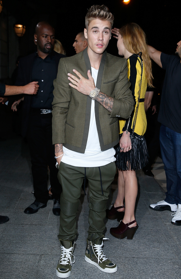 Justin Bieber attends the CR Fashion Book Issue N°5 launch party as part of the Paris Fashion Week Womenswear Spring/Summer 2015 on September 30, 2014 in Paris, France.