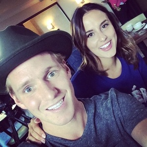 Jamie Laing and Lucy Watson during filming for series eight of Made In Chelsea 7 October