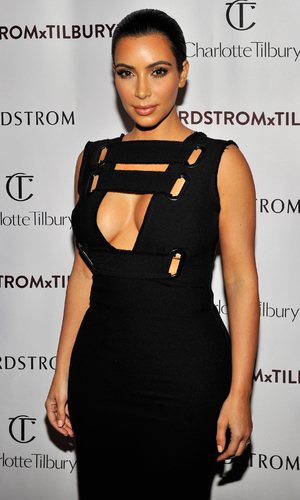 Kim Kardashian attends 'Charlotte Tilbury arrives in America: VIP Beauty Launch Event' presented by Nordstrom at The Grove on October 9, 2014 in Los Angeles, California.