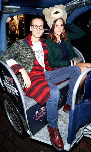 Lucy Watson and Oliver Proudlock at the JOOP! Crazy Party, Disco and Cirque le Soir, London, Britain - 09 Oct 2014