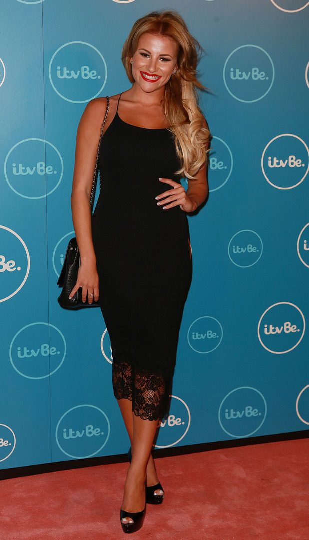 TOWIE's Georgia Kousoulou attends the ITVBe launch party in London, England - 7 October 2014