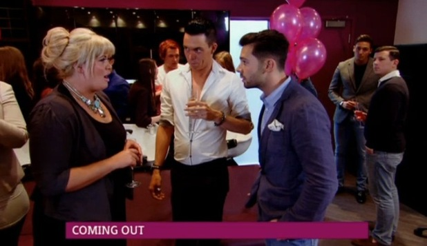 Former TOWIE star Charlie King with Bobby Norris and Gemma Collins - 9 October.