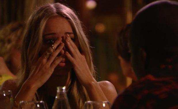 The Only Way is Ibiza: Lauren Pope cries after hearing rumours boyfriend Lewis Bloor cheated. Episode airs: Wednesday 8 October.