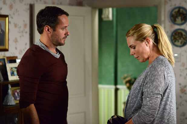 EastEnders, Charlie tells Ronnie he doesn't want to help with the baby, Thu 9 Oct