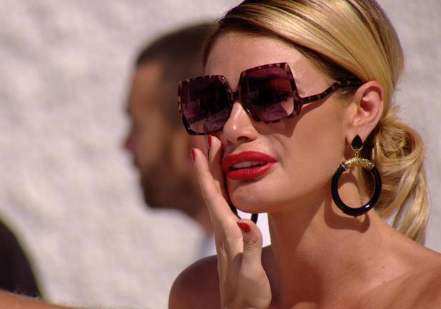 The Only Way is Ibiza: Chloe Sims cries over Ferne McCann. Episode airs: Wednesday 8 October.