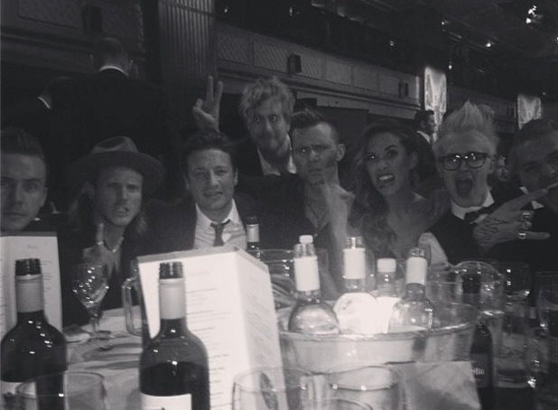 Myleene Klass joins McBusted and Jamie Oliver at Pride of Britain 2014 6 October