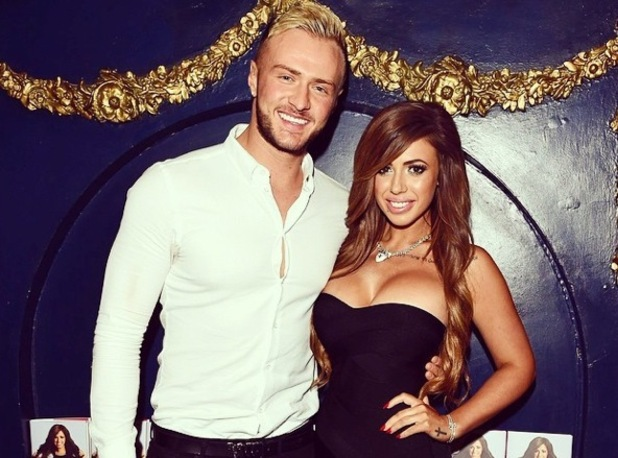 Holly Hagan and Kyle Christie at Holly's autobiography book launch, Cafe De Paris, London 4 October