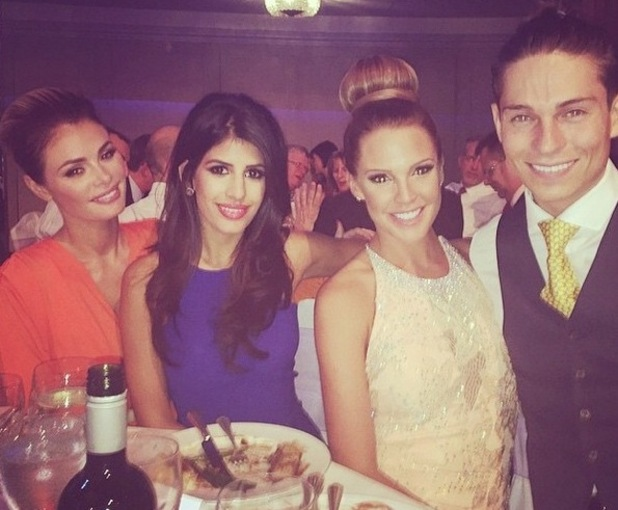 Chloe Sims, Jasmin Walia, Danielle Lloyd and Joey Essex at Pride of Britain Awards 2014, Grosvenor House Hotel, London 9 October