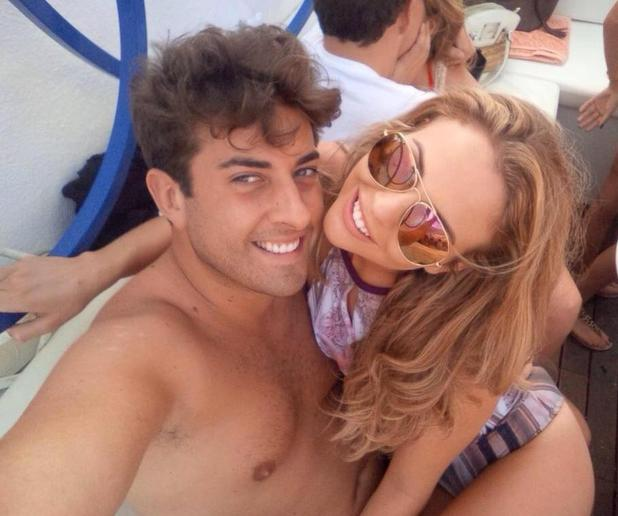 TOWIE's Lydia Bright and James 'Arg' Argent look close in Ibiza - 27 September.