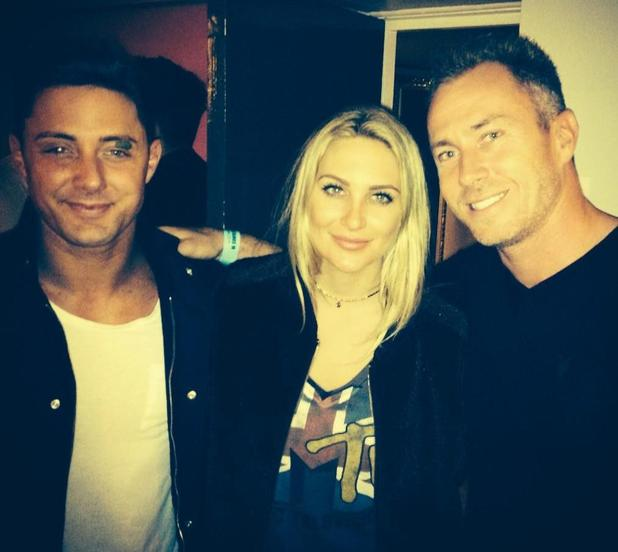 CBB's Stephanie Pratt, Ricci Guarnaccio and James Jordan watch Live At The Apollo show  - 8 October.