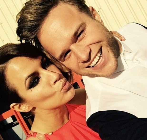 Caroline Flack and Olly Murs before Caroline's performance on Strictly 4 October