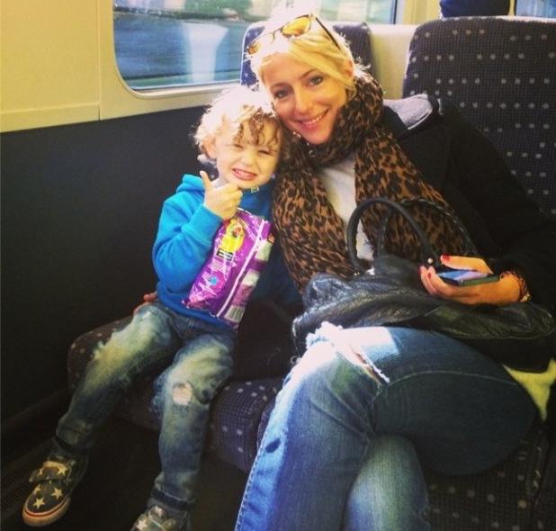 Hollyoaks' Jodi Albert visits the National History Museum with Ali Bastian and son Koa - 6 October 2014