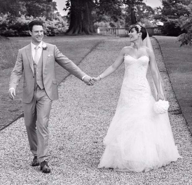Frankie Bridge shares wedding photo with Wayne Bridge, Woburn Abbey, Bedfordshire 6 October