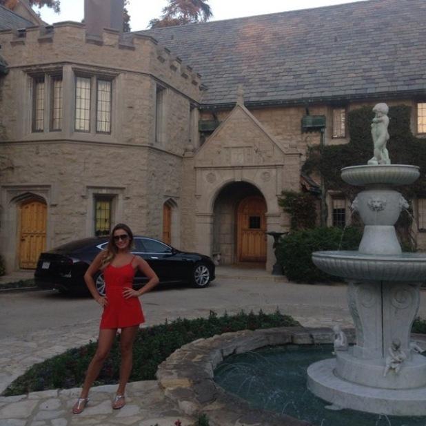 Sam Faiers visits the Playboy Mansion with Crystal Hefner - 9 October 2014