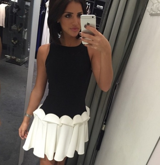 Lucy Mecklenburgh takes a selfie, October 2014.