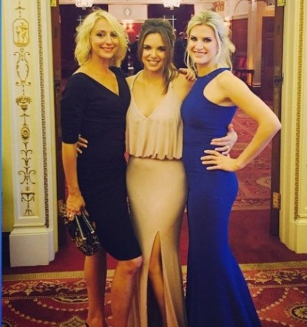 Hollyoaks' Jodi Albert, Sarah Jayne Dunn and Ali Bastian at LAP Research charity ball - 6 October 2014