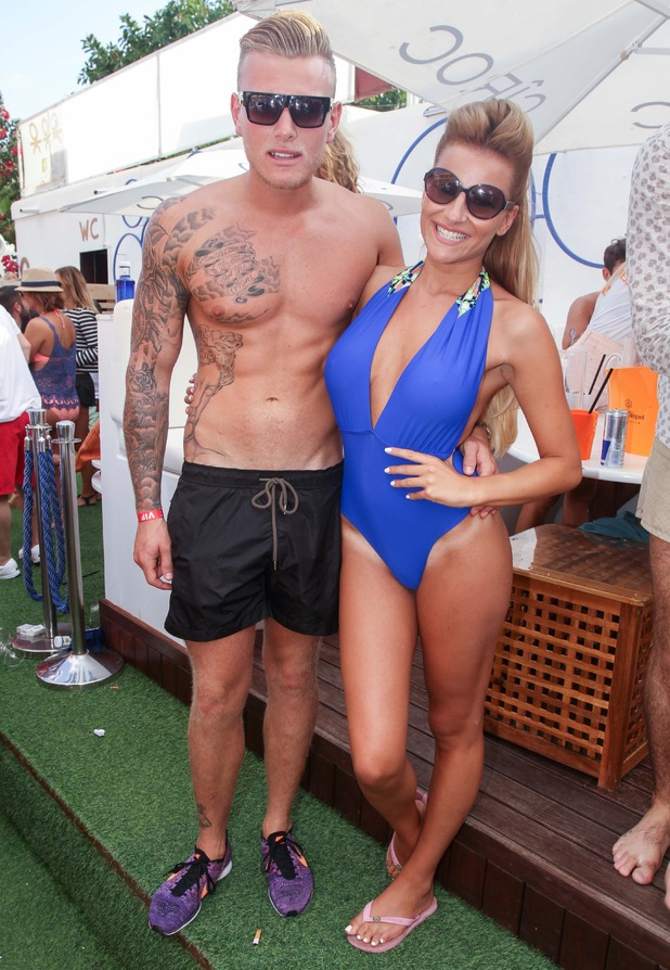 The Only Way Is Essex cast in Ibiza, Spain - 26 Sep 2014 Tommy Mallet and Georgia Kousoulou.