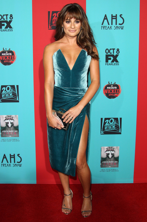 Lea Michele attends the premiere of American Horror Story: Freak Show in Los Angeles, America - 5 October 2014