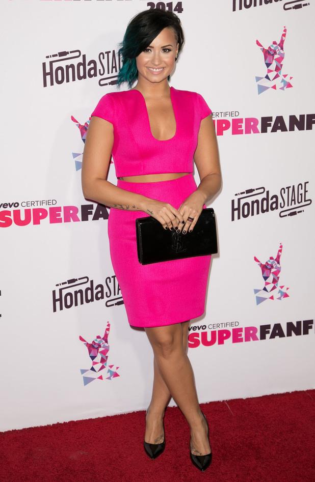 Demi Lovato attends the SuperFanFest 2014 event in Santa Monica, America - 8 October 2014