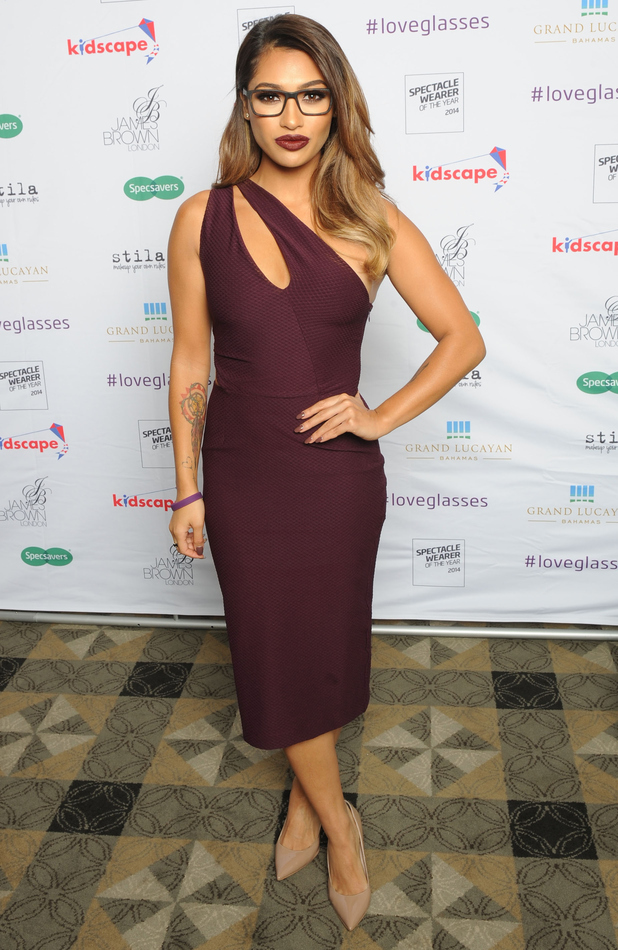 Vanessa White rocks vampy lips at the Specsavers Spectacle Wearer of the Year Awards 2014 - London, England - 7 October 2014