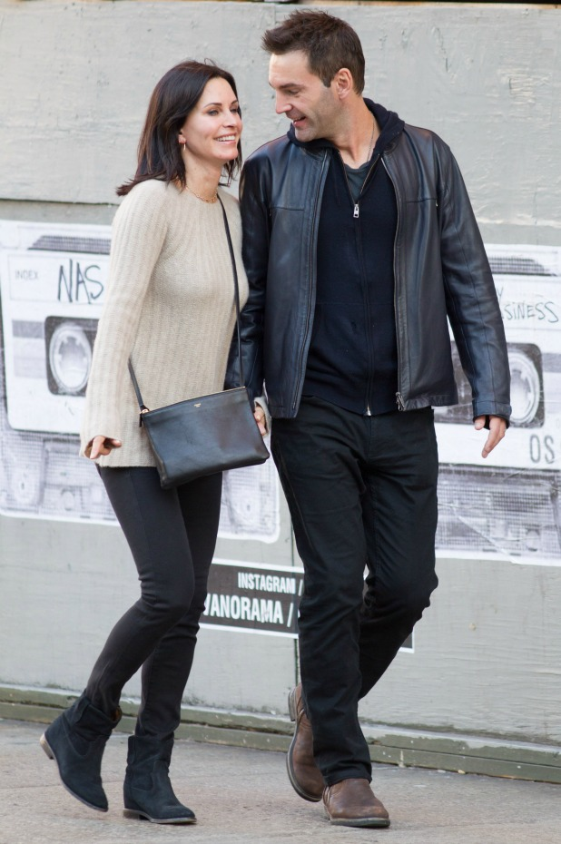 Courteney Cox and Johnny McDaid out and about, New York, America - 05 Oct 2014