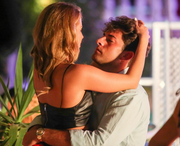 'The Only Way is Essex' cast at Es Paradis nightclub, Ibiza, Spain - 26 Sep 2014 Lydia Bright and James Argent kissing