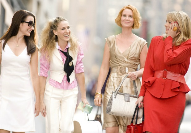 Sex and the City movie still, Sarah Jessica Parker, Kim Cattrall, Cynthia Nixon, Kristin Davis