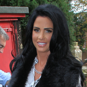 Katie Price shows off new dark hair at literary festival, Isle of Wight 17 October