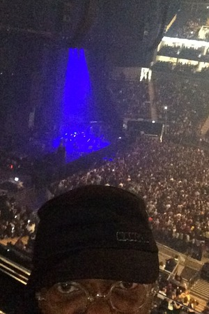 Samuel L. Jackson at Ed Sheeran's London concert - 16 October.