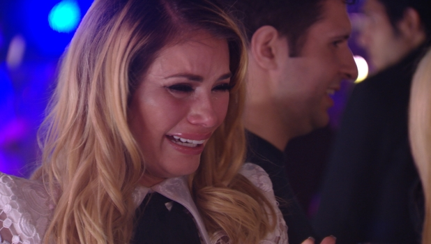 Chloe Sims seen in floods of tears during TOWIE episode, 19 October 2014