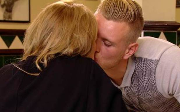 TOWIE's Tommy Mallet kisses Georgia Kousoulou on a date - 15 Oct 2014